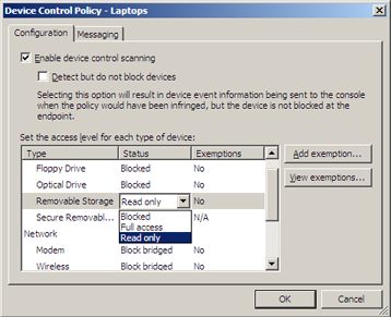 Device Control screenshot